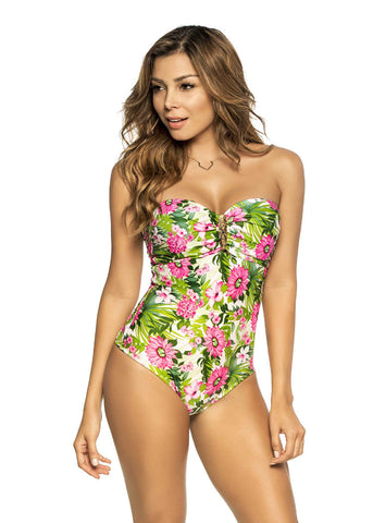 PHAX BF11160122: DAISY FLOWERS One Piece Swimsuit
