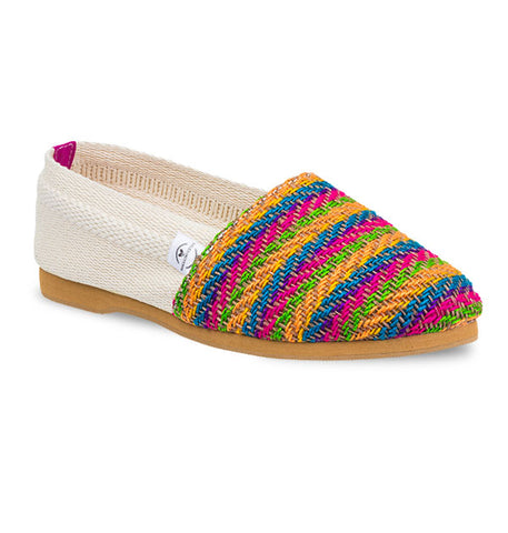 Soles For Change Baru - Pink Yellow Espadrilles