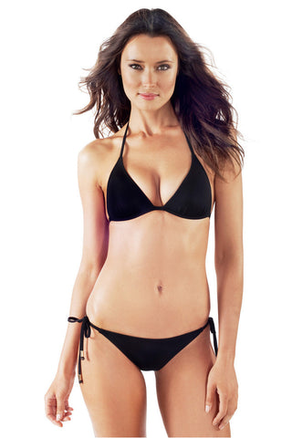 Voda Swim E01_Black: Envy Push Up ® String  Bikini Set