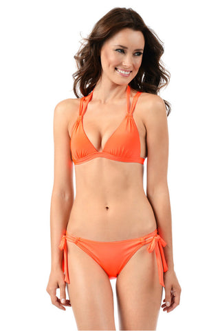 Voda Swim E21_NeonOrange: Envy Push Up ® Crisscross  Bikini Set