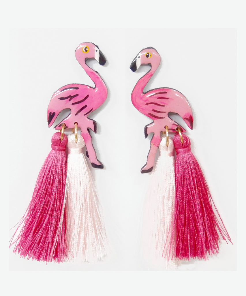 Nuez Moscada: Flamingo Earrings