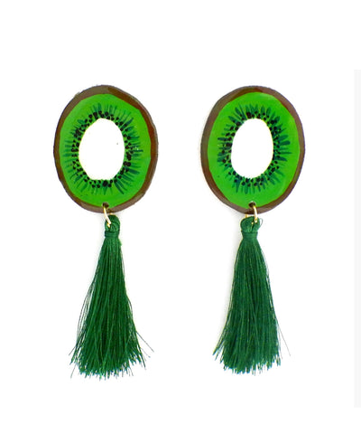 Nuez Moscada: Kiwi Earrings