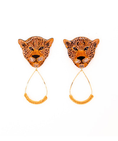 Maxi Leopard Earrings
