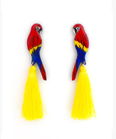 Nuez Moscada: Macaw Earrings