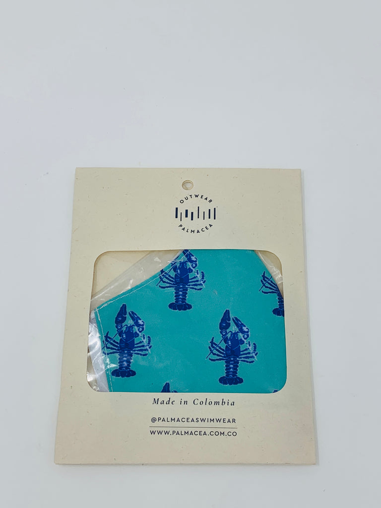 PALMACEA Blue Lobsters 2 Ply Anti-Fluid Face Mask