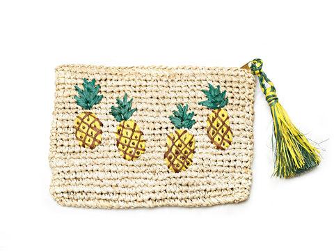 Style Cat PinaColada Natural Cosmetic Pouch