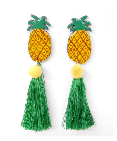 Nuez Moscada: Pineapple Earrings