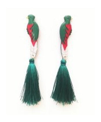 Nuez Moscada: Quetzal Earrings