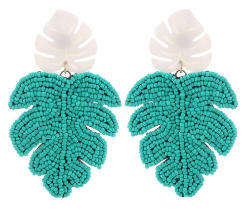Cancun Leaf Earrings