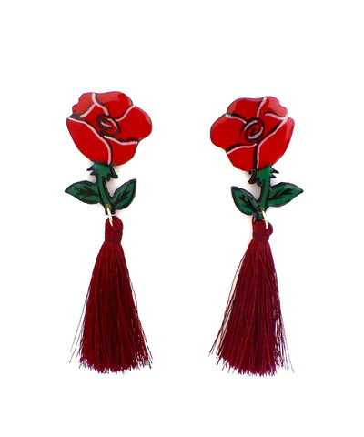 Nuez Moscada: Rose Earrings