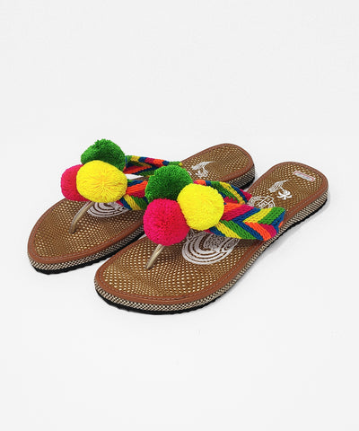 EUR 41 - Pom Pom Sandals Uniquely Handmade by Wayuu people