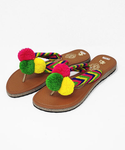 Pom Pom Sandals Uniquely Handmade by Wayuu people - US Size 10