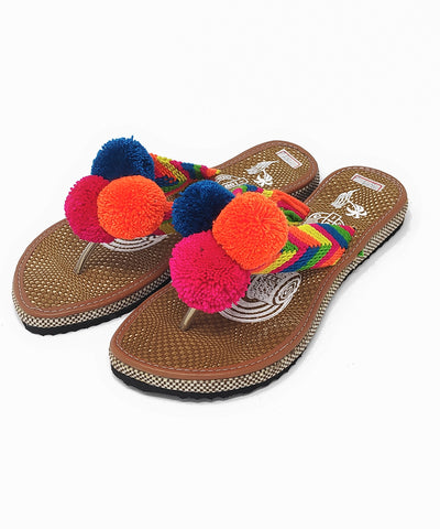 Pom Pom Sandals Uniquely Handmade by Wayuu people - US Size 8