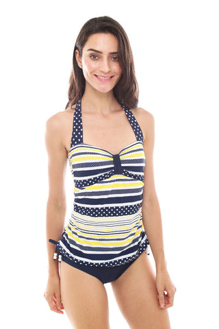 SUMMER CHICKS SBR157192 NAUTICAL MARMARA One Piece Ruched Maillot