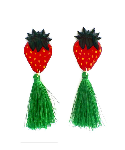 Nuez Moscada: Strawberry Earrings