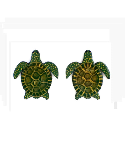 Nuez Moscada: Turtle Earrings