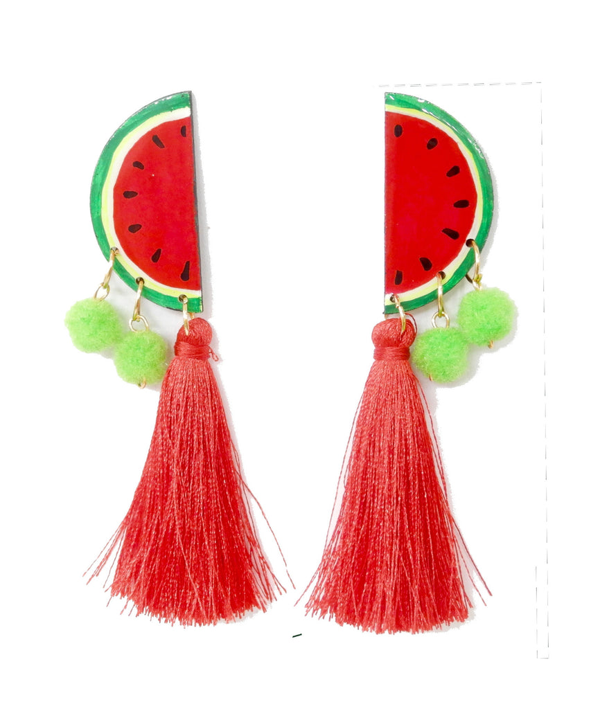 Nuez Moscada: Watermelon Earrings