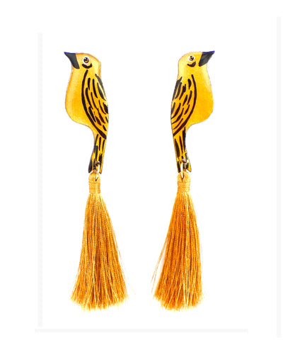 Nuez Moscada: Yellow Euphonia Earrings