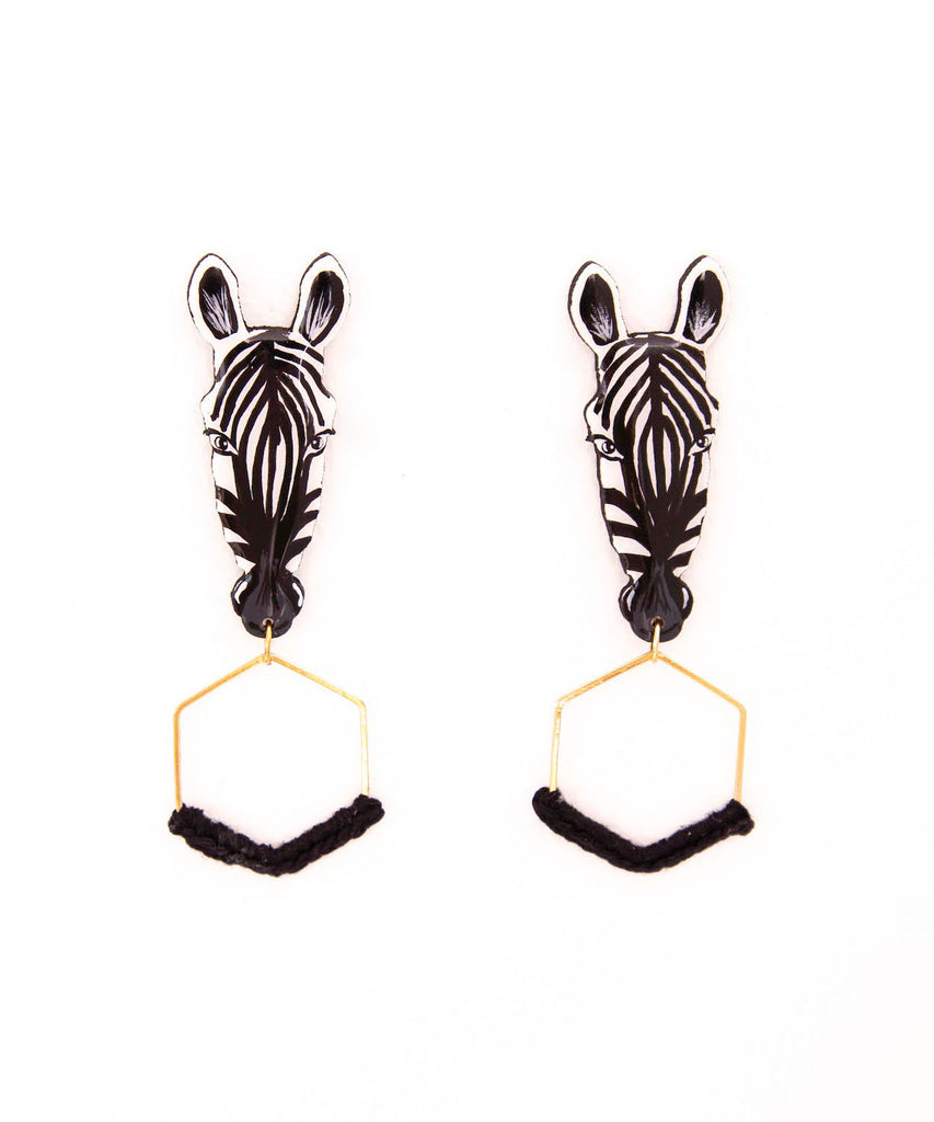 Maxi Zebra Earrings