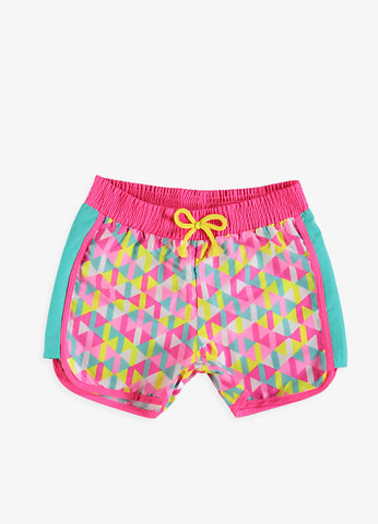 Triangles Girls Swim Shorts