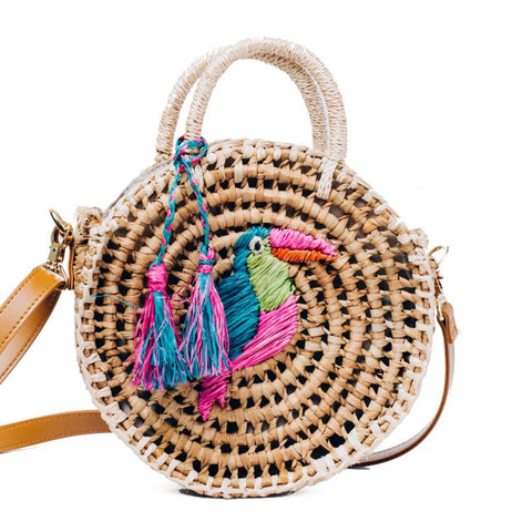 Style Cat Port_Douglas: Circle Basket Sling  Bag