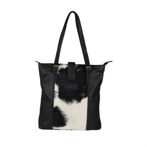 MALIQUE BY ME Hairon Shopper leder zwart