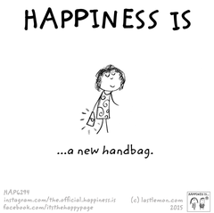 Happiness is a new handbag!
