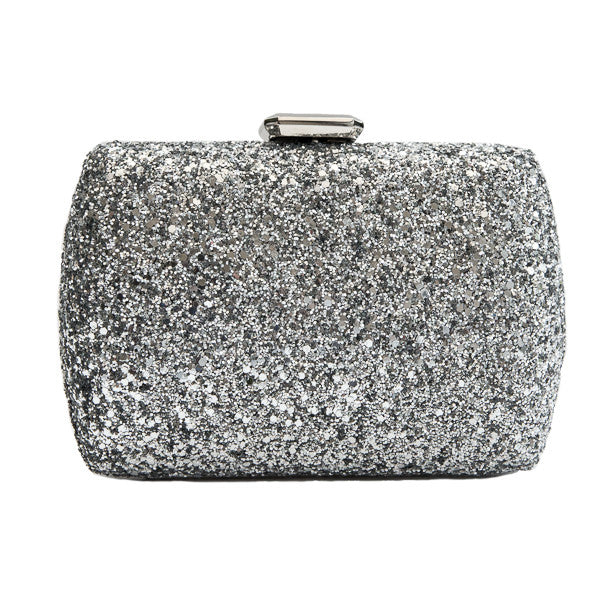 Diana & Co zilveren glitter clutch