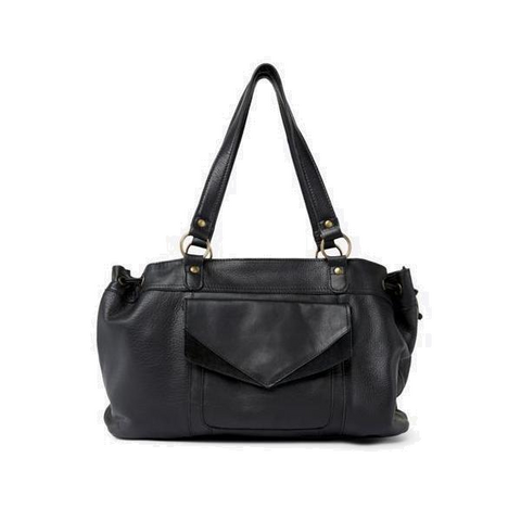 PIECES Beth Leatherbag zwart