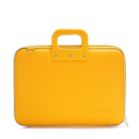 Bombata gele laptoptas in Mandarine Yellow