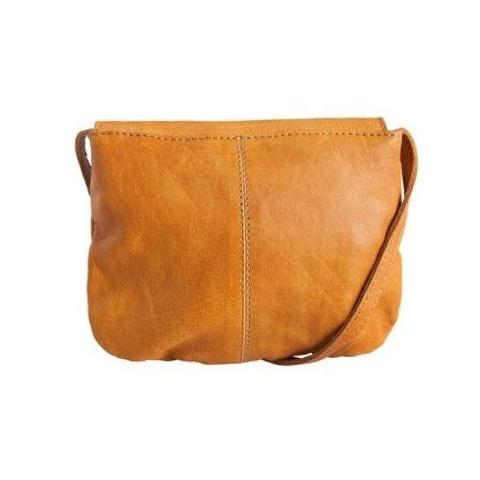 PIECES Totally Royal Leather Party Bag Noos cognac