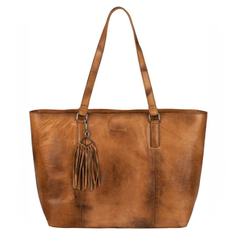 Burkely Noble Nova Wide cognac shopper