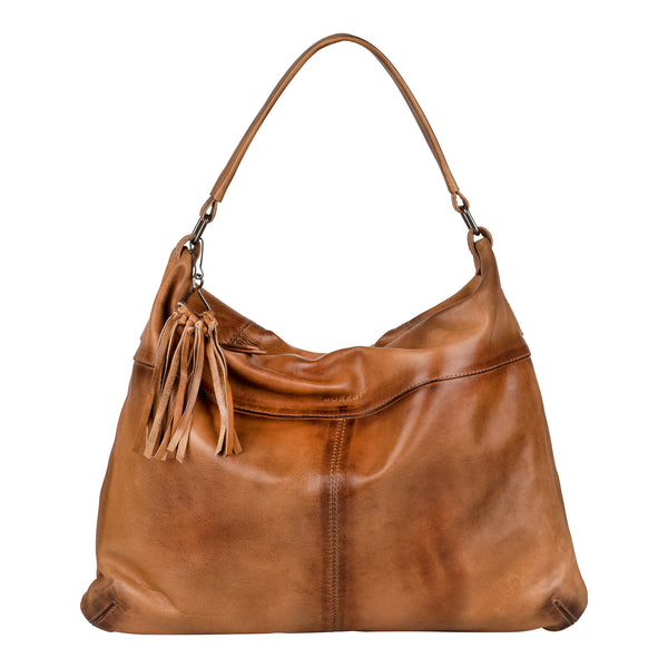 Burkely Noble Nova Hobo cognac Shopper Handtas