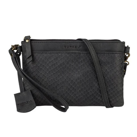 Burkely Flow Fem X-Over zwarte crossbody