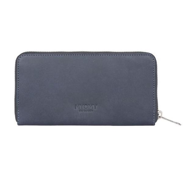My Paper Bag Wallet (RFID) - Navy Blue / Waxy Ginger