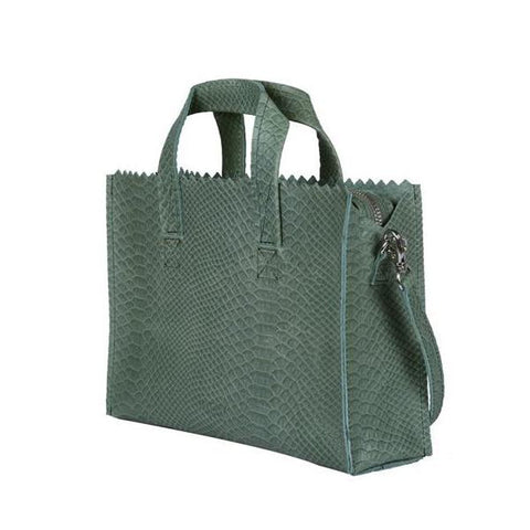 MPB Mini handbag crossbody Anaconda Sea Green