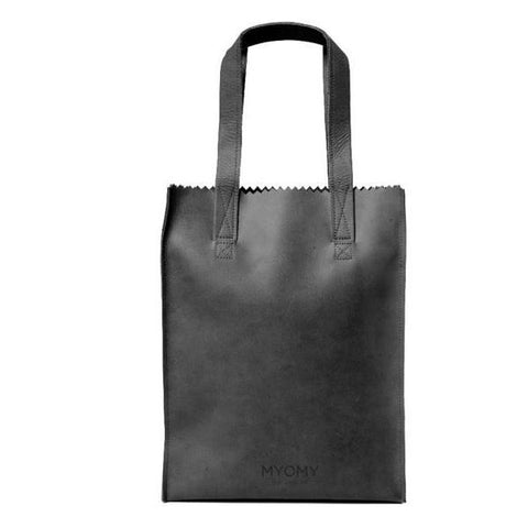 MY PAPER BAG Long Handle Zip Hunter Off Black