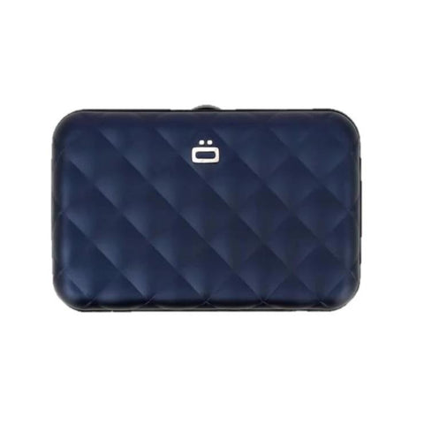Ögon Quilted Button Navy-Blue