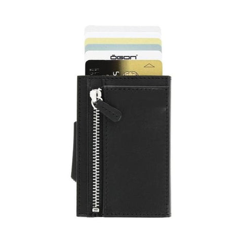 Ögon Cascade Zipper Wallet Black