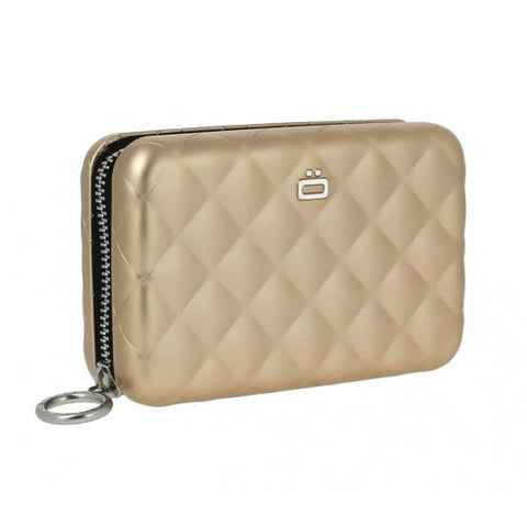 Ögon Designs Quilted Zipper portefeuille Rose Gold