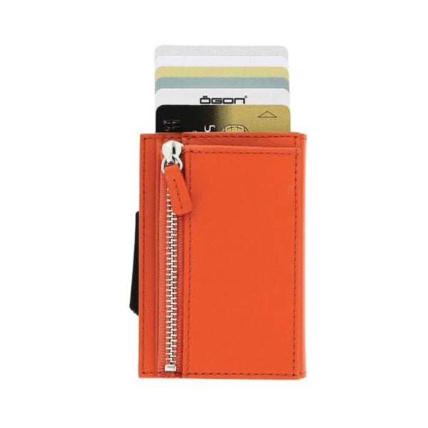 Ögon Cascade Zipper Wallet Orange