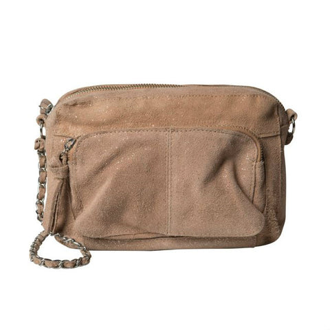 PIECES Isla Suede Crossbody Evening Sand - suède bruin cross body schoudertas