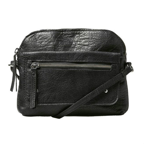 PIECES Allison Leather Crossbody black