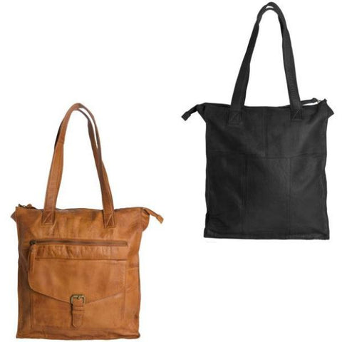 PIECES Abby Leather Shopper