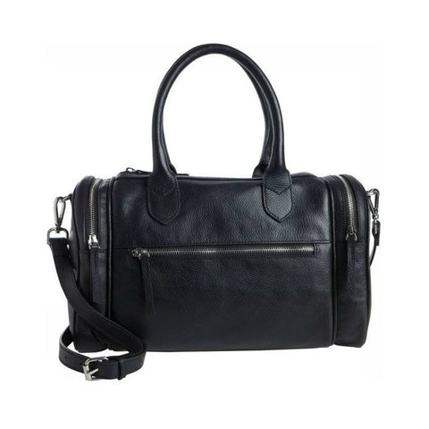PIECES Lynn Leather Bag zwart