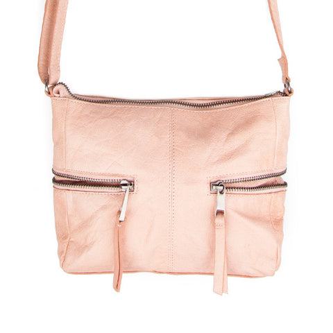 Pieces Billy Misty Rose nude crossbody roze handtas