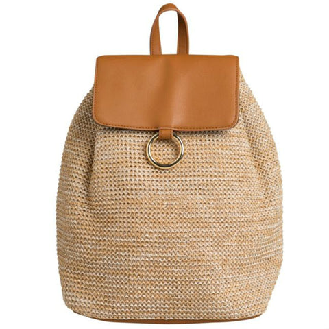 PIECES ILANA BACKPACK BEACH nature strandtas zand bruin rugzak