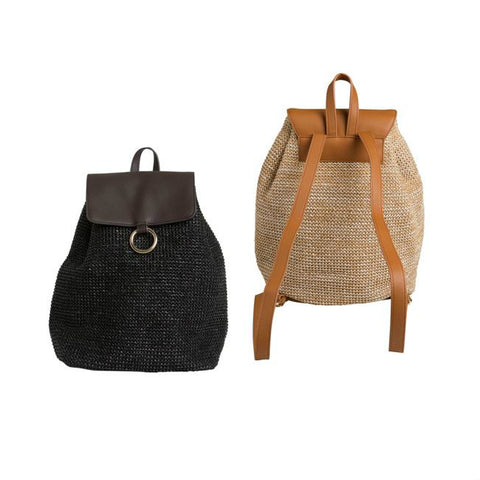 PIECES ILANA BACKPACK BEACH zwarte strandtas rugzak