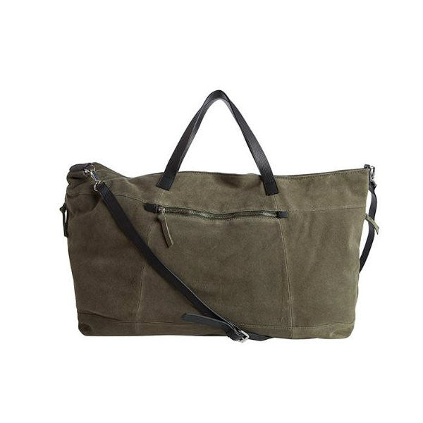 PIECES PCLADY Suède Travel Bag Deep Lichen Green
