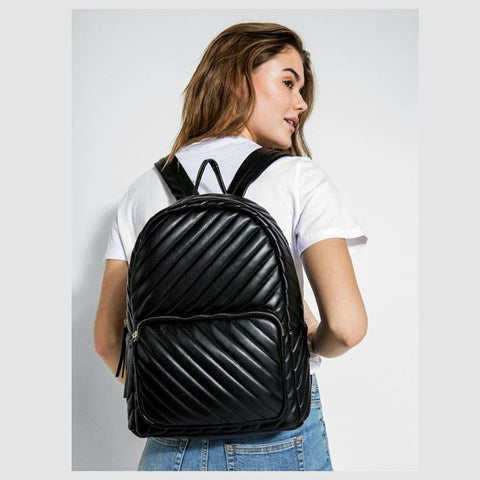 PIECES Malou rugzak zwart - quilted backpack